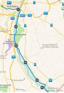 Vienna - Hainburg 65 km