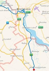 Hainburg-Bratislava-Mosonmagyaróvár 66,5 km