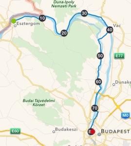 Esztergom - Budapest 80,9 km