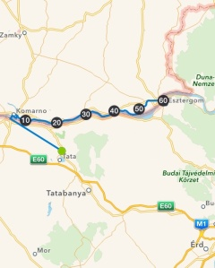 Tata - Esztergom 60,5 km