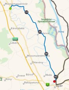 Mosonmagyaróvár - Gyor 42.1 km